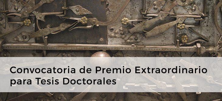 Convocatoria de Premio Extraordinario para Tesis Doctorales