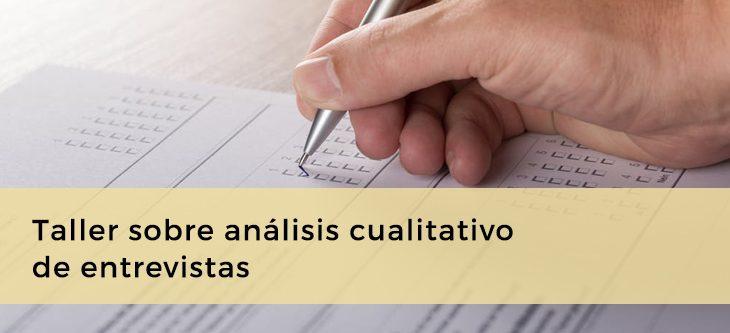 Taller sobre análisis cualitativo de entrevistas