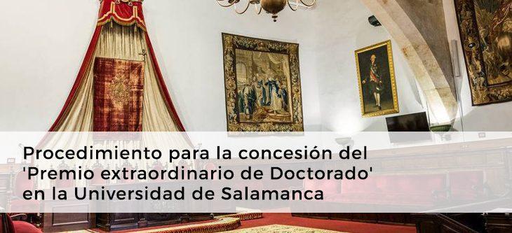 Procedimiento para la concesión del 'Premio extraordinario de Doctorado' en la Universidad de Salamanca